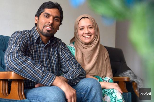 Tayyab et Sarah participent à l'initiative canadienne «Rencontrez... (Le Soleil, Yan Doublet)