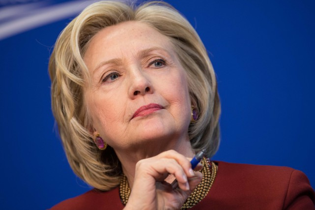 Si elle est élue, Mme Clinton deviendra la... (PHOTO NICHOLAS KAMM, ARCHIVES AFP)