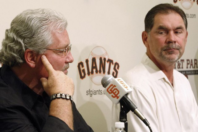 Le directeur général des Giants de San Francisco,... (PHOTO ARCHIVES ASSOCIATED PRESS)