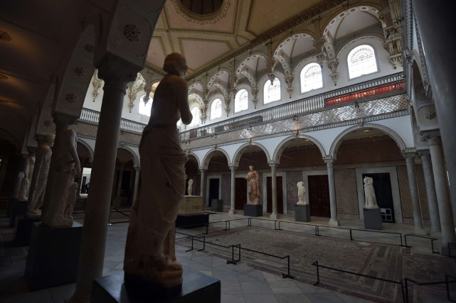 Le hall des statues du musée du Bardo... (PHOTO FETHI BELAID, ARCHIVES AFP)