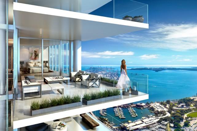 La trépidante ville de Miami connaît de nouveau un boom immobilier. L'ambitieux... (ILLUSTRATION FOURNIE PAR MIAMI WORLDCENTER)