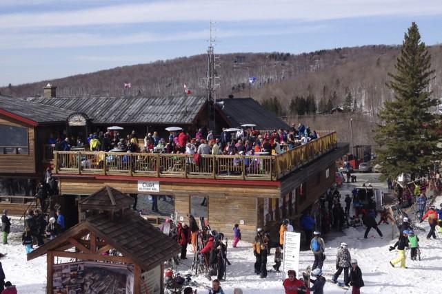 Ski Sutton a accueilli beaucoup de skieurs, hier,... (Photo Fournie)