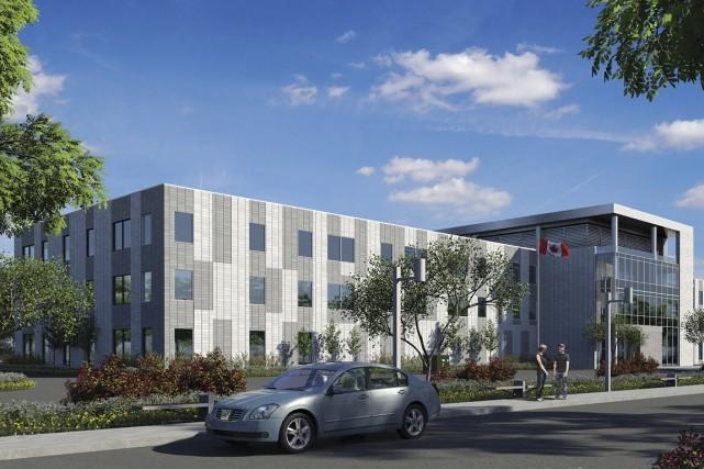 La construction du nouveau Centre des services de... (Image fournie par Broccolini)
