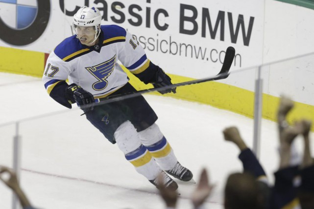 Jaden Schwartz... (Photo LM Otero, archives AP)