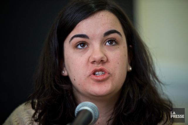 La porte-parole de l'ASSÉ, Camille Godbout... (PHOTO ANDRÉ PICHETTE, LA PRESSE)