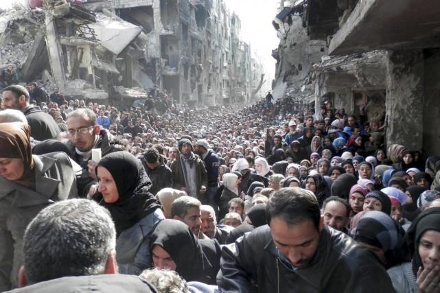 Le camp de réfugiés palestiniens, qui compte encore... (PHOTO ARCHIVES AP)