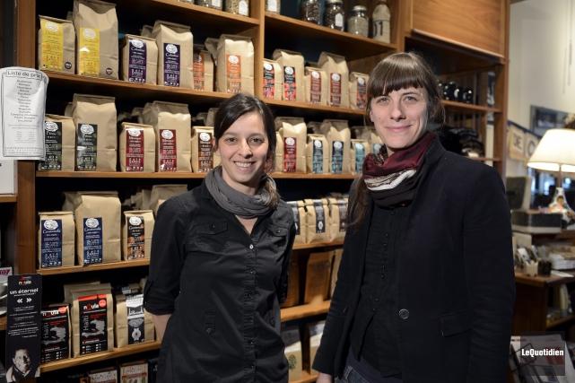 Geneviève Demers et Guylaine Pelletier, les deux cofondatrices... ((Photo Le Quotidien, Jeannot Lévesque))