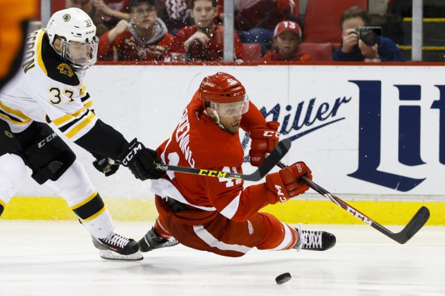 Les Bruins et les Red Wings, lors de... (Rick Osentoski, Archives USA TODAY Sports)