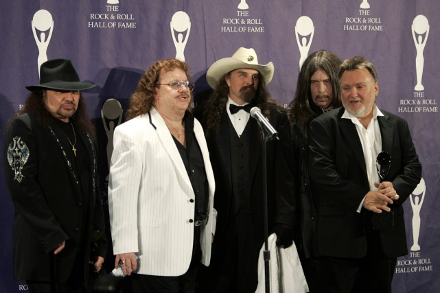 Les membres du groupe Lynyrd Skynyrd: Gary Rossington,... (Photo Brendan McDermid, archives Reuters)