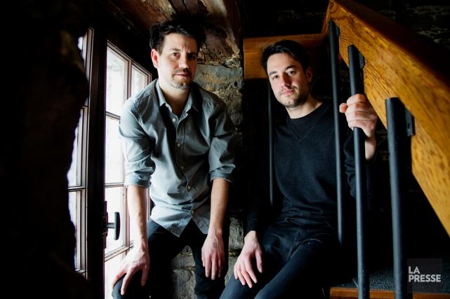Les oeuvres de Jason et Carlos Sanchez sont... (PHOTO ALAIN ROBERGE, LA PRESSE)