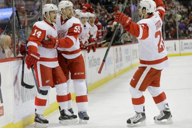 Les Wings et les Bruins ont le même... (Photo Ann Heisenfelt, AP)