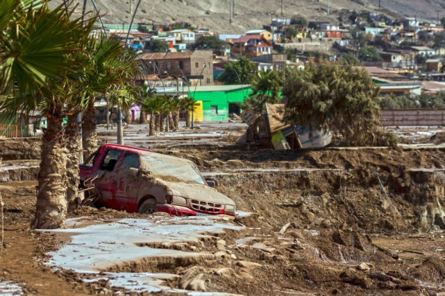 La région d'Atacama, à 800 km au nord... (PHOTO PATRICIO MIRANDA, AFP)