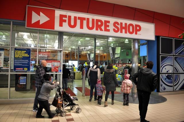 Le Future Shop était fermé depuis le 28... (Photo Rocket Lavoie)