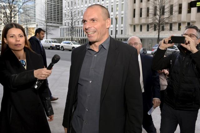 Le ministre des finances grecYanis Varoufakis lors de... (Photo Mike Theiler, Reuters)