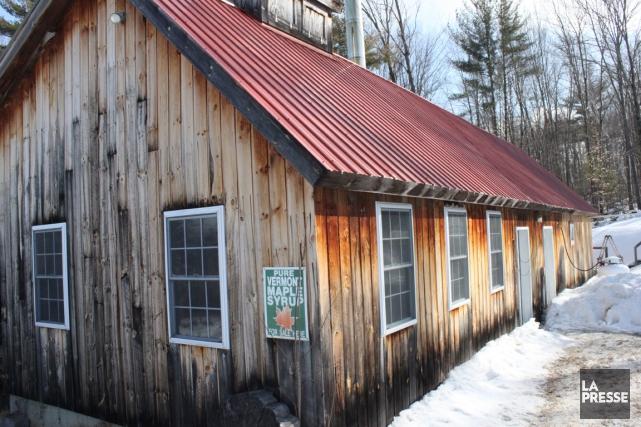 La cabane à sucre du gîteMount Pleasant Sugarworks,... (PHOTO CATHERINE SCHLAGER, LA PRESSE)