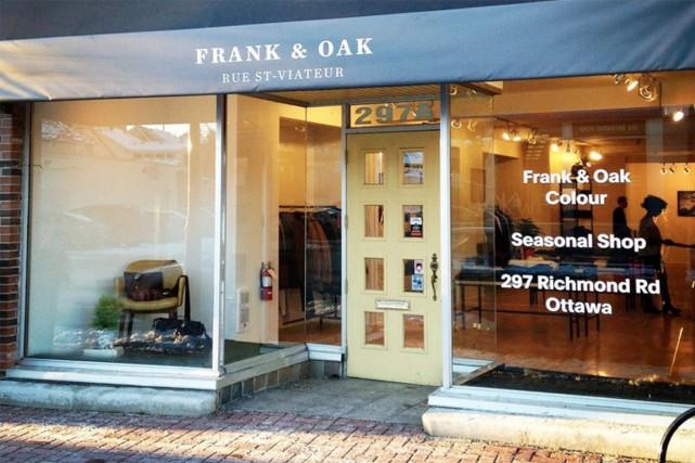 Frank & Oak prend encore de l'ampleur. Le détaillant montréalais de mode... (PHOTO TIRÉE DE FACEBOOK)