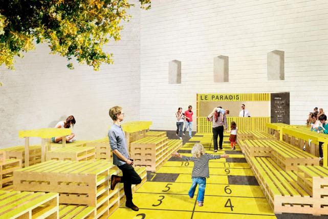 Voici une des idées qui a jailli lors... (Image fournie par l'école d'architecture de l'Université Laval)