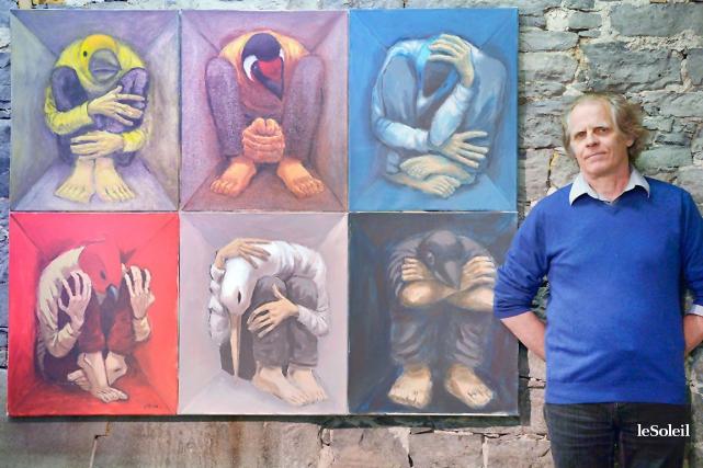 André-Philippe Côté a commencé à peindre les hommes... (Le Soleil, Jean-Marie Villeneuve)