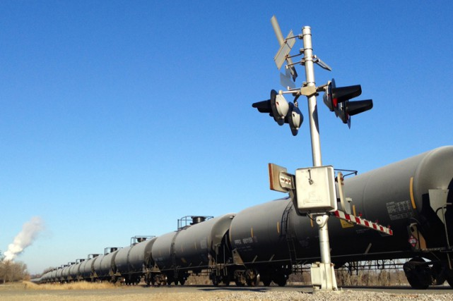 Les wagons-citernes qui transportent du pétrole ou de l'éthanol aux États-Unis... (Photo: Reuters)