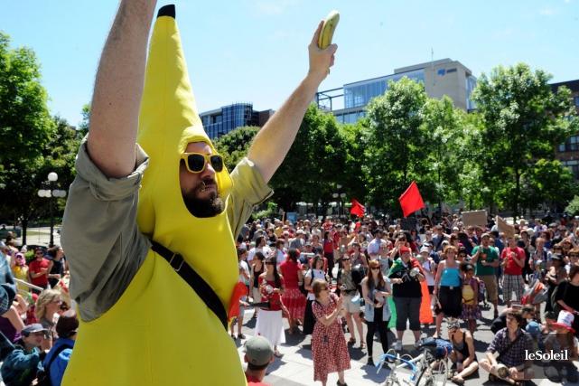 L'ex-«Banane Rebelle», qui a remisé son costume depuis... (Photothèque Le Soleil, Erick Labbé)