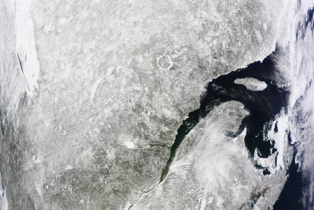 Cette image satellite de la région, prise dimanche... ((Courtoisie))