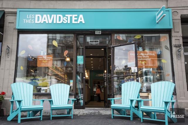 La chaîne montréalaise David'sTeacompte 158 magasins.... (PHOTO OLIVIER PONTBRIAND, ARCHIVES LA PRESSE)