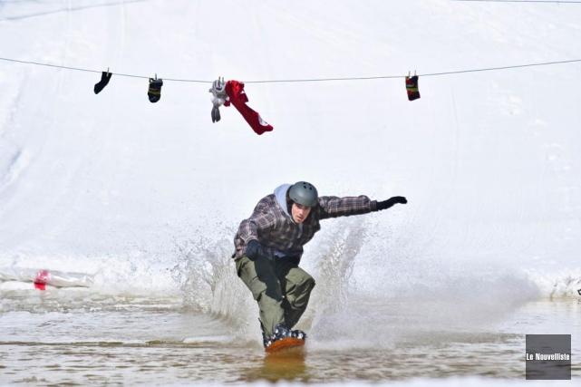 Malgré les précipitations de neige limitées, un froid... (Photo: Émilie O'Connor, Le Nouvelliste)