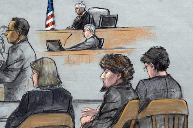 Les avocats de Tsarnaev ont déjà admis qu'il... (ILLUSTRATION JANE FLAVELL COLLINS, ARCHIVES AP)