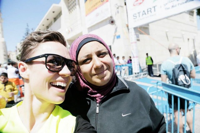 Le marathon de palestine - 2014 - Right... (Photo fournie par Signe Vest et Ursula Bach)