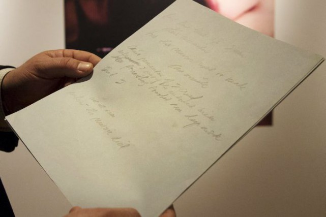 Le manuscrit original de la chanson à succès American Pie de Don... (Photo: Reuters)