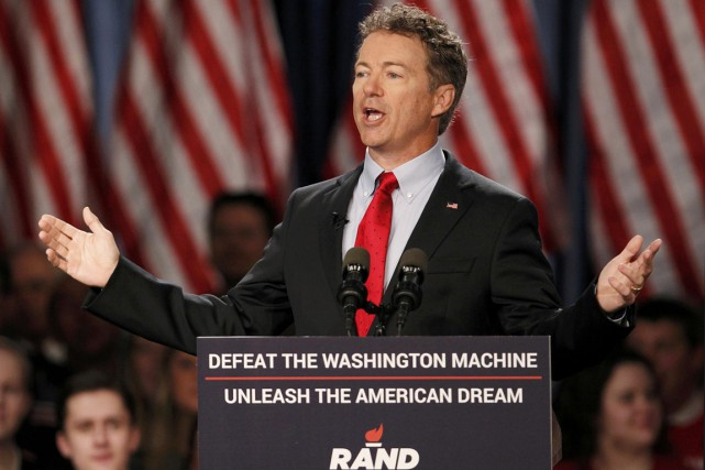 Le sénateur du Kentucky Rand Paul a officiellement... (PHOTO AARON P. BERNSTEIN)
