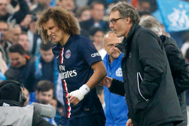 Le défenseur du Paris Saint-Germain David Luiz a quitté le... (Photo Eric Gaillard, Reuters)