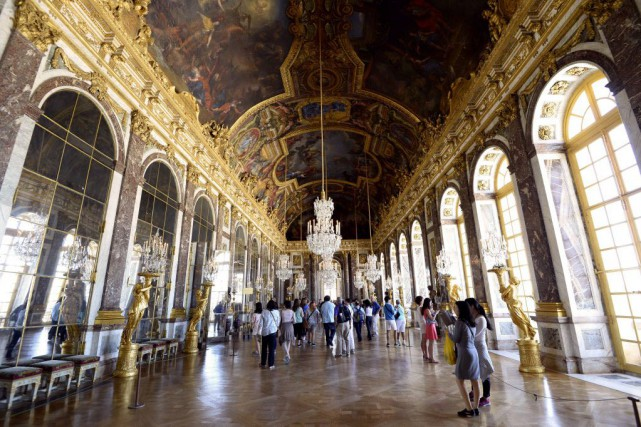 La Galerie des glaces, au Château de Versailles.... (Photo BERTRAND GUAY, AFP)