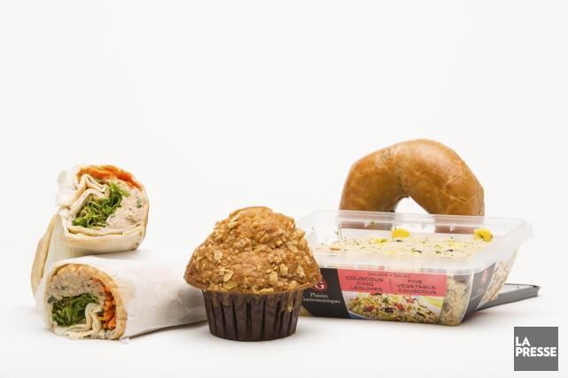 D'après son étiquette, ce sandwich contient 480 calories, 9 g de gras et 350 mg... (Photo Edouard Plante-Fréchette, La Presse)
