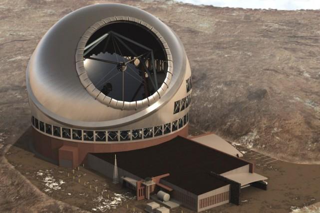 Le télescope, d'une hauteur de 30 mètres, sera... (Photo AP)