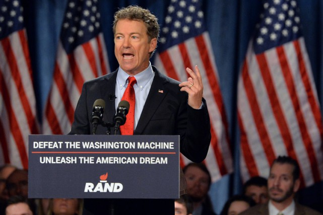 Rand Paul se définit comme un «conservateur constitutionnel»... (Photo: AFP)