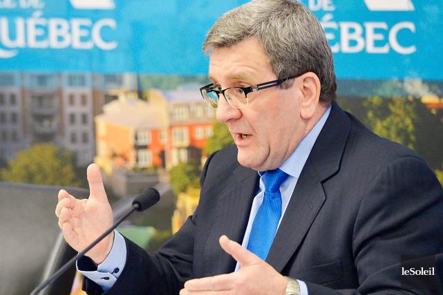 Le maire de Québec Régis Labeaume... (Photothèque Le Soleil, Yan Doublet)