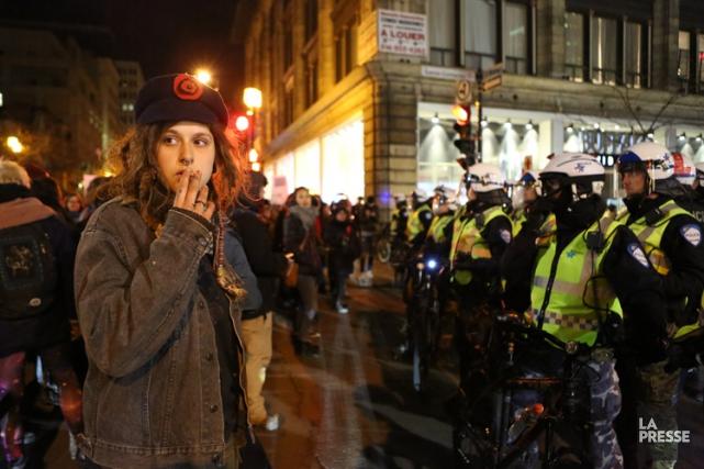 La manifestation non-mixte de mardi soir est la... (Photo: Fanny Lacasse, La Presse)