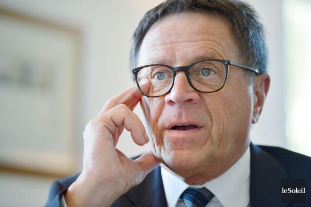 Le maire Gilles Lehouillier... (Photothèque Le Soleil, Yan Doublet)