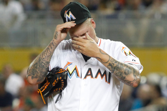 Mat Latos... (Photo Joe Skipper, AP)
