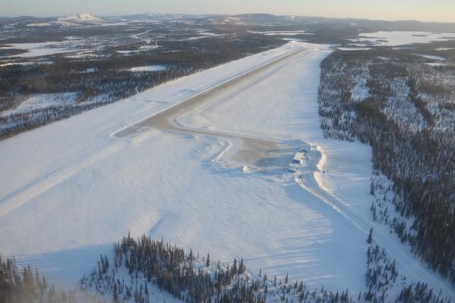 Incluant une piste en gravier de 1497 mètres,... (PHOTO FOURNIE PAR STORNOWAY DIAMOND)