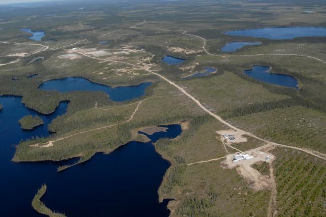 Territoire du gisement d'Eagle Hill.... (PHOTO FOURNIE PAR EAGLE HILL)