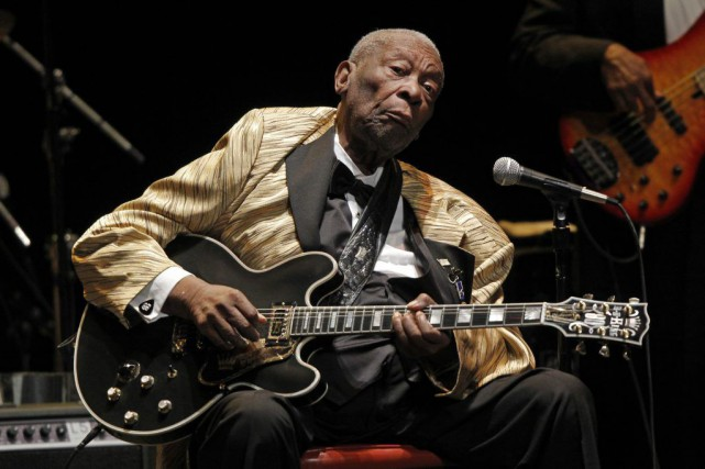 B.B. King en mai 2014.... (Photo: archives AP)