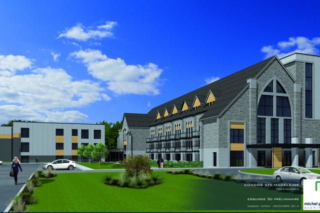 Voici ce qu'auront l'air le presbytère et l'église...