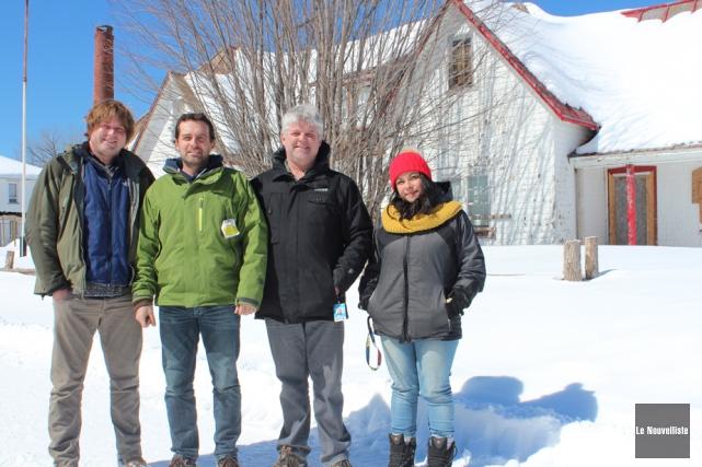 Les propriétaires, Simon Parent, David Lemire, et Éric... (Photo: Audrey Tremblay, Le Nouvelliste)