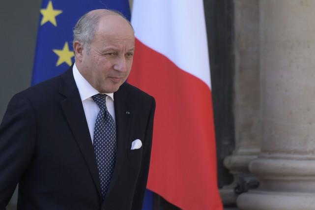 Le ministre français des Affaires étrangères, Laurent Fabius... (PHOTO LIONEL BONAVENTURE, AFP)
