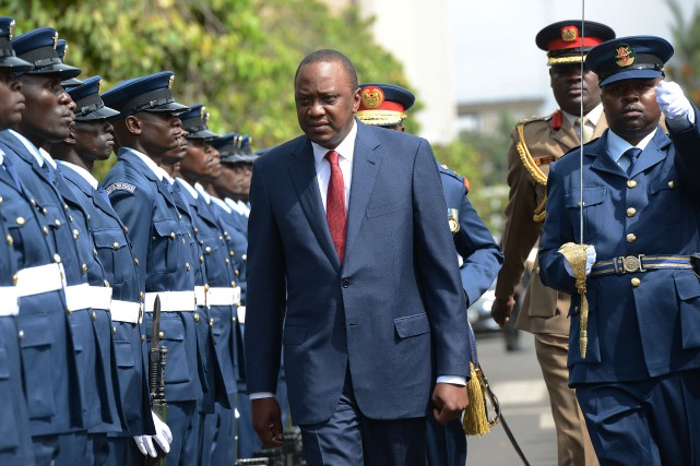 Le président kényan,Uhuru Kenyatta... (PHOTO SIMON MAINA, ARCHIVES AFP)