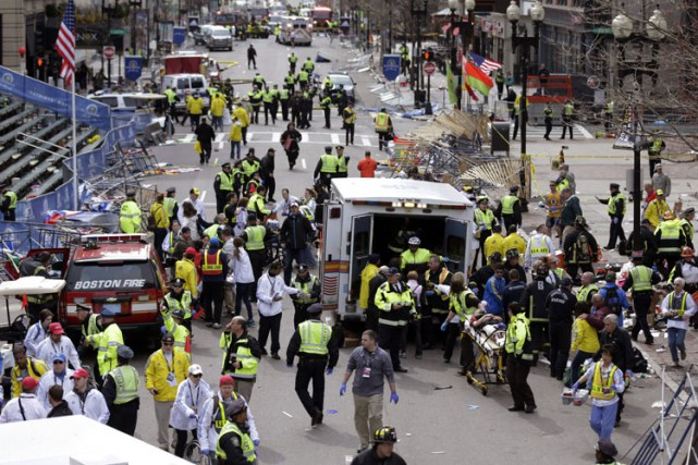 Les attentats de Boston, avaient fait 3 morts... (Archives AP)