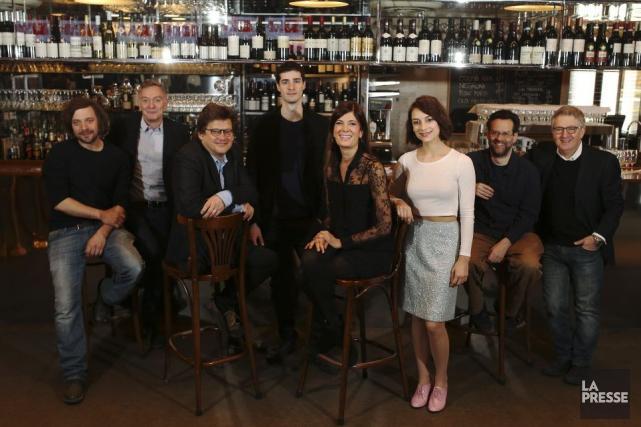 Christian Lapointe, Michel Marc Bouchard, Dominic Champagne, Simon... (Photo: Martin Chamberland, La Presse)