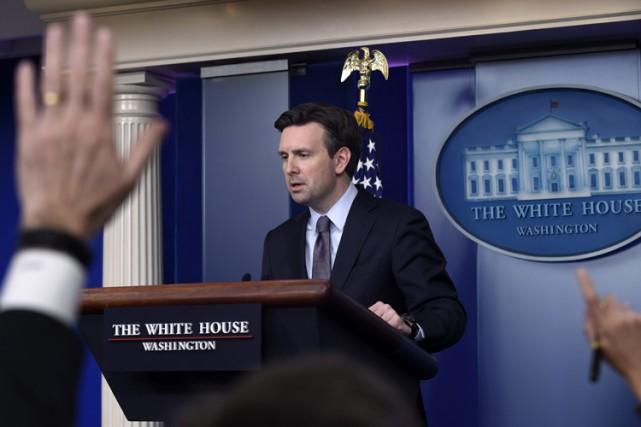 Le porte-parole de la Maison-Blanche,Josh Earnest.... (Photo: AP)